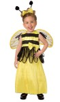 Honey Bee Toddler Costume - Bee stripe dress embellished with adorable bow, an antennae headband with attached bow and bee wings.