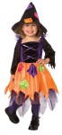 Patchwork Witch Toddler Costume - Patchwork Witch costume comes with a trendy dress adorned with metallic patches and shiny sequins, and a patchwork witch.