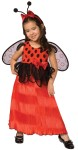 Lady Bug Toddler Costume - Adorable polka dotted dress with attached bow, wings and antennae headband.