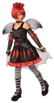 Batty Princess Child Costume - Batty Princess costume comes with highly detailed dress, faux corset, wings and glovettes.