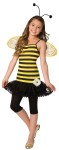 Sweet As Honey Child Costume - Sweet as Honey comes with adorable bee stripe dress with attached petti skirt, flower embellishment, wings and antennae headband.