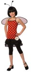 LoveBug Child Costume - Adorable polka dot dress with attached petti skirt, flower embellishment, wings and antennae headband.