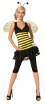 Sweet As Honey Adult Costume - Adorable bee stripe dress with attached petti skirt, flower embellishment, wings and antennae headband. Add your own leggings!