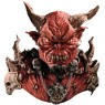 Amazingly detailed El Diablo devil Halloween over-the-head mask with shoulders