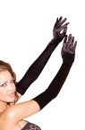 Opera Gloves - Opera length satin gloves.  One size.