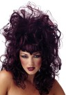 Wild, sultry wig with widows peak and bangs.  Add to any Vampiress costume for a great sexy look.  Designed with stretch net under cap.