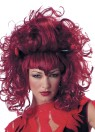 Sexy wild wig with devil horns attached and widows peak front.Designed with stretch net under cap.