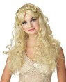 Long blonde, curly wig. Has the look of a Fairy Tale Princess.