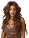 Long curled wig in the tradition of R&B Divas.