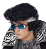 Bouffant front style rocker wig with traditional style sideburns. Designed with a stretch net under cap.