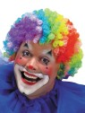 Be your favorite Clown!  Seven-color, tight curl afro wig.  Wigs are sized to fit both male and female! Designed with stretch net under cap.