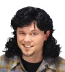 Mullet Wig - A true Red Neck wig!  Curly haired wig with traditional long back for that good ole boy look. Designed with a stretch net under cap. Available in various colors.