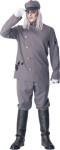 Hemlock the Ghost Chauffeur Adult Costume - Distressed jacket and pants, hat and boot covers.