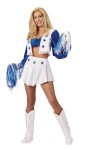 This is what you need to look like the ultimate Dallas Cheerleader. This costume includes the top with attached vest and skirt. Boot covers and shakers not included.