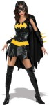 "Vinyl look dress with cape and Batman insignia attached, matching glovettes, vinyl eyemask and vinyl belt. Polyester. From the Secret Wishes collection.<br><br><span id=""LblCopyRight"" class=""style4"">Trademark and Copyright DC Comics (s06).</span>"