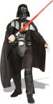 Look and feel like Lord Vader in our deluxe costume.  Consisting of one piece 3/4 helmet (mask), flowing cape, 3-D belt and jumpsuit with 3-D molded EVA collar, boot tops & chest piece.