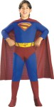 This Superman costume includes jumpsuit with logo, briefs, belt, boot tops and cape attached. This is an officially licensed Superman™ Returns costume, © DC Comics.