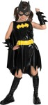 Includes shiny look dress, cape, belt, boot tops, mask and cuffs. *Trademark and Copyright of DC Comics.
