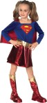 Includes two tone dress with matching cape, lame belt and matching boot tops. *Trademark and Copyright of DC Comics.