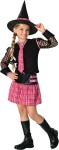 Includes plaid skirt with matching long tie, long netted sleeve top, and witch hat with plaid headband. *Shoes and stockings not included.