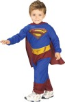 Includes jumpsuit with logo, briefs, belt, boot tops and cape attached.  * Trademark and Copyright DC Comics (s06).