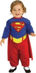 Removable cape and romper with under leg, snap closure.  *Trademark and Copyright of DC Comics.