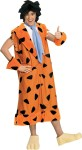 Yabba Dabba Doo! Costume includes coat with collar, necktie, cuffs, wig, and latex feet shoe covers.