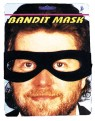 One piece bandit mask with holes for eyes. Black only.