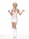 "Adult Head Nurse Costume - Includes sexy halter zipper front dress, matching headpiece and stethoscope. Stockings and boots not included. Also available in Plus size - Style <SPAN id=lbloldsku class=smallstyle><FONT color=#000000><A href=""adult-head-nurse-costume---plus-size-grp-123ua83050-plus.aspx"">YFZ16949-Plus</A></FONT></SPAN>"