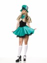 Includes hostess mini dress, hat and shoulder cape. *Stockings and petticoat not included.