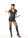 Must be the Vice squad!!!  Includes:  zipper front dress, vinyl hat, handcuffs and baton.