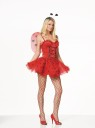 Includes: velvet and tulle dress, headpiece and wings. Shoes and pantyhose not included.