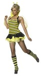 This bee rules the hive. Includes crown, wings and dress with collar and attached petticoat. Leg warmers not included.
