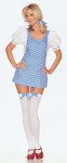 Includes : Apron Dress, stockings and hair bow.