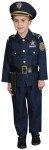 Lets play, Ill be the Police. This beautiful and extremely realistic looking police outfit will have your child feel like he is a real cop. Includes jacket, elastic pants, hat, belt, whistle, handcuffs and gun holster. Polyester costume.