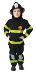 Help, Theres a fire! This beautiful and extremely realistic looking fire fighter outfit, will get your childs imagination running as he/she pretends- play and has hours of fun being a HERO. Includes jacket with velcro stripping, elastic pants and head protector. Helmet sold separately.