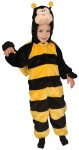 This little bee will have you buzzing. Plush jumpsuit with attached head. Polyester costume.