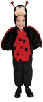 What a sweetie! This Lady bug costume includes plush jumpsuit with attached wings and head. Polyester costume.