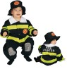 Lets put out some fires! Jumpsuit coverall with matching hat. 100% cotton costume.