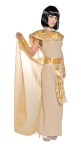 Full length dress, hand embroidered collar with bead trim, attached cape and Egyptian Belt with trim.