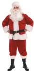 This Santa Suit includes: Plush jacket and pants with vinyl belt. (Hat, wig, beard and boots sold separately). One size fits most.