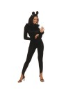 Includes: Balck Boa trimmed Bodysuit with Cat Ears headband. Sizes : Large (12-14), Medium (8-10) & Small (4-6)