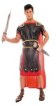Includes: toga with detailed leather look tunic and attached cape.  One size fits most 40-50.  Sword not included.