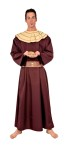 Full length, long sleeve tunic with collar and belt. One size fits most adults 42-46.