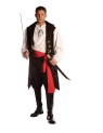 Captain Cutthroat includes pirate vest with attached shirt front and sleeves, pants and sash.  One size fits most. Sword sold separately.