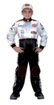 Racing Suit - Child Costume - Very authentic Race Car Driver Suit. Includes: Jumpsuit, Custom embroidery and logo, full length zipper, official neck and ankle straps, elastic waistband, rear seat pocket.