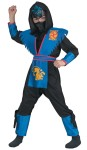 Deluxe Shadow Panther Ninja Child Costume - Includes: Bodysuit with hood, printed insignia foam armor, Waist Sash and Character Mask. Black socks not included.