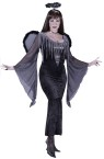 Fallen Angel Adult Costume - Includes: Velvet gown with belt, wings and halo.
