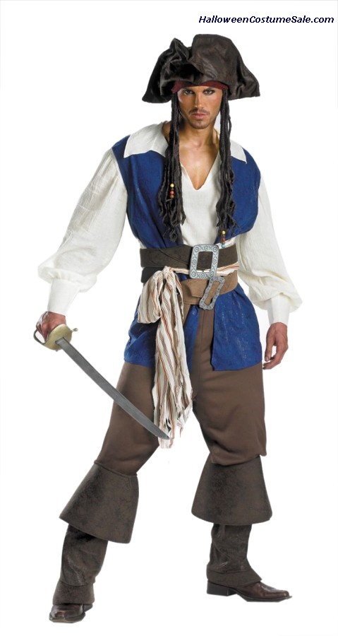 DELUXE DISNEY JACK SPARROW ADULT COSTUME