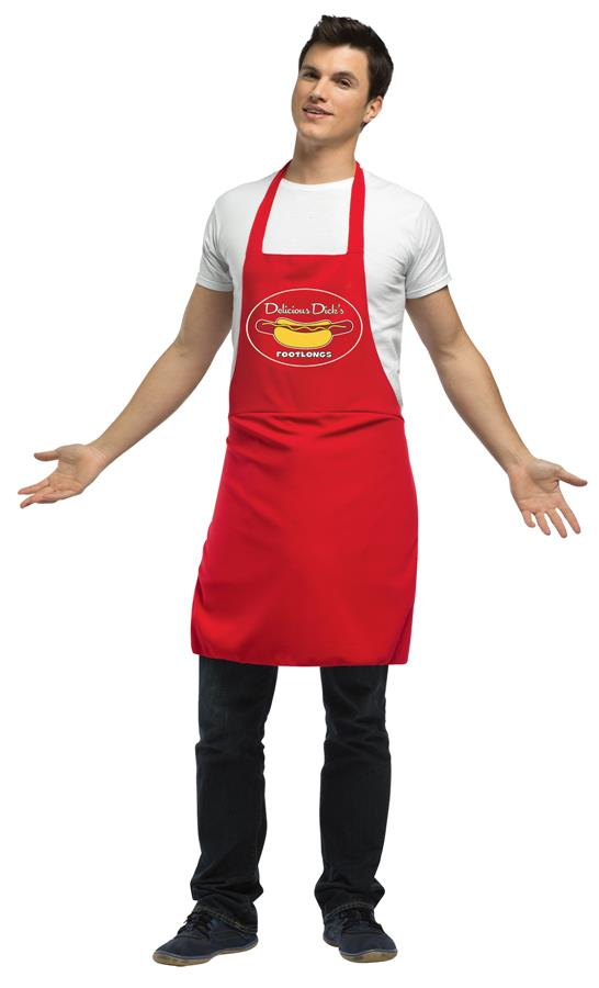 HOT DOG VENDOR DIRTY APRON ADULT COSTUME